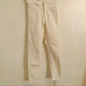 Zara high rise white leggings jeans.size:10 years